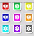 Medicine icon sign Set of multicolored modern vector image vector image