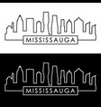 mississauga skyline linear style editable file vector image vector image