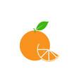 orange fruit clip art graphic design template vector image vector image