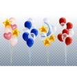 party balloons transparent set vector image vector image
