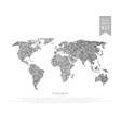 polygonal world map vector image