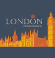 postcard with palace westminster in london vector image