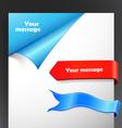 ribbon corners vector image vector image