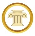 Roman column icon vector image vector image