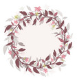 round frame wreath image isolated from the vector image vector image
