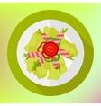 Salad bacon paprika geen herb vector image