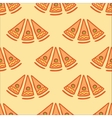 Seamless background with slices of pizza vector image