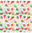 seamless pattern with different colors kites vector image