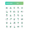 set of 30 line icons pub vector image vector image