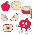 set of apple vector image vector image