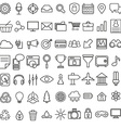 Set of linear media service icons 100 icons for vector image vector image
