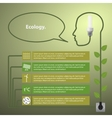 Template infographic Concept of renewable energy vector image