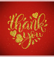 thank you lettering hand drawn calligraphy vector image