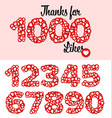 thanks for 1000 likes status vector image