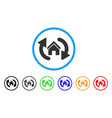update house rounded icon vector image