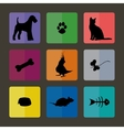 Veterinary Icons with pets vector image