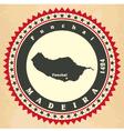 Vintage label-sticker cards of Madeira vector image