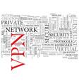 vpn word cloud concept vector image vector image