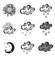 Weather simple icons vector image vector image