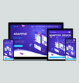 website template landing page isometric concept vector image