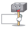 with board character of metallic meat tenderizer vector image vector image