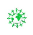 Green earth vector image