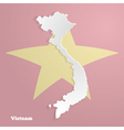 Abstract icon map of Vietnam vector image
