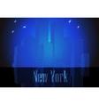 citie silhouette retro New York vector image