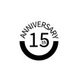 15 anniversary sign element of anniversary sign vector image vector image