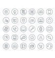 30 business commerce finance line icons set vector image