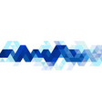 abstract blue triangle modern strip template for vector image vector image