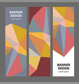 abstract modern banner background design vector image