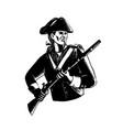 american patriot scratchboard vector image vector image
