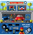 Auto Centers And Carwash Horizontal Banners vector image vector image