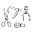 barber tools engraving