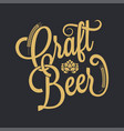 Beer vintage lettering background