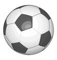 black and white soccer ball on white background vector image