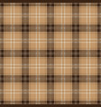 brown tablecloth tartan plaid seamless pattern vector image vector image