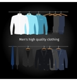 Business men casual clothing vector image