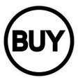 Buy button on white vector image vector image