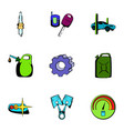 car icons set cartoon style vector image vector image