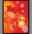 chirstmas background vector image vector image