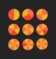circle segments vector image vector image