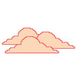 clouds pixel climate day nature vector image