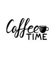 coffee lettering logo vector image