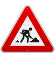 Construction Road Sign vector image vector image
