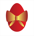 easter egg with gold bow vector image