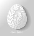 egg floral flat vector image vector image
