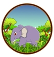 elephant with forest background vector image vector image