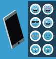 emojis smartphone chat icons vector image vector image